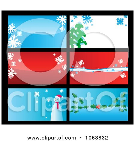 Clipart Christmas Business Cards Backgrounds 2 - Royalty Free Vector Illustration by Vector Tradition SM