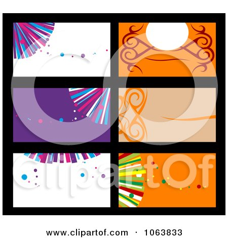 Clipart Abstract Business Card Backgrounds Digital Collage 2 - Royalty Free Vector Illustration by Vector Tradition SM