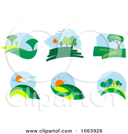 Clipart Landscapes Digital Collage - Royalty Free Vector Illustration by Vector Tradition SM