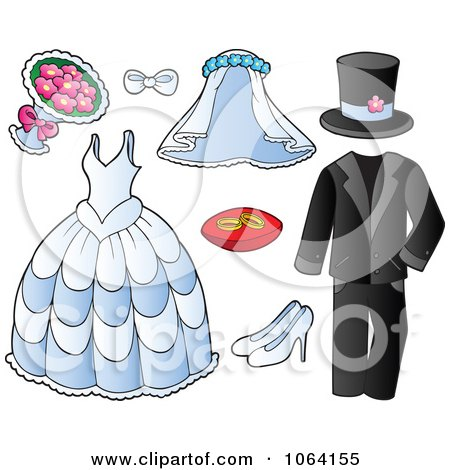 Clipart Wedding Items - Royalty Free Vector Illustration by visekart