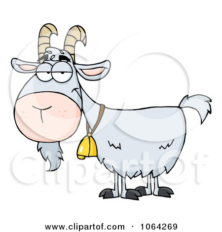 Clipart Gray Goat - Royalty Free Vector Illustration by Hit Toon