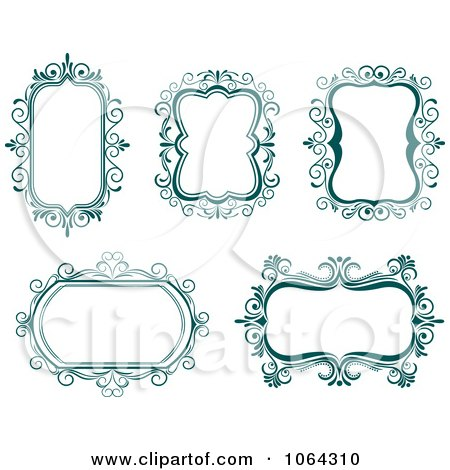 clipart picture frames. Clipart Blue Frames Digital