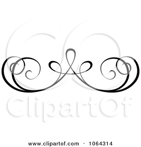 Clipart Black Swirl Scribbles And Design Elements - Royalty Free ...
