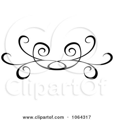 Black Swirl Divider Clip Art at Clker.com - vector clip art online ...