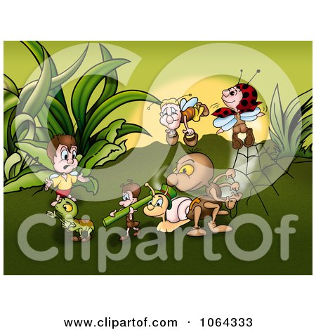 Clipart Bugs Working In Insect World - Royalty Free Illustration by dero