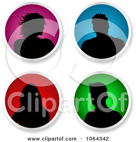 Clipart Round People Avatars Digital Collage - Royalty Free Vector Illustration by KJ Pargeter