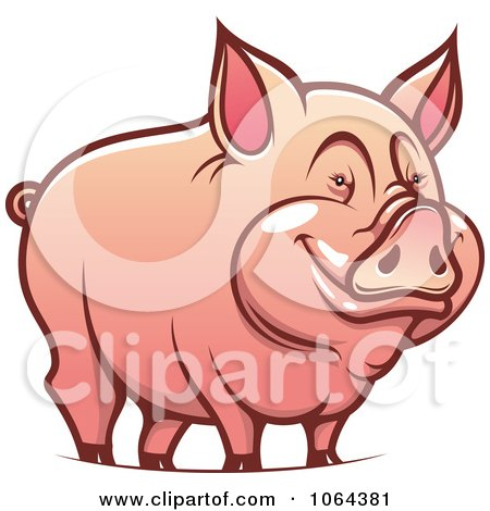 Clipart Happy Pig - Royalty Free Vector Illustration by Vector Tradition SM