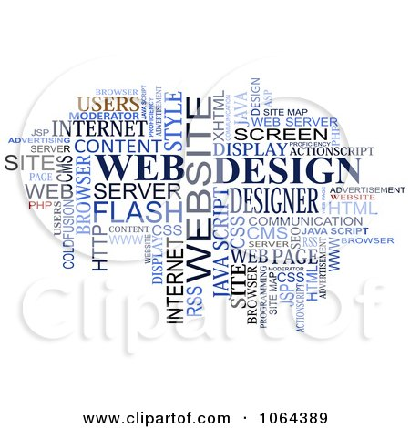 Clipart Web Design Word Collage - Royalty Free Vector Illustration by Vector Tradition SM