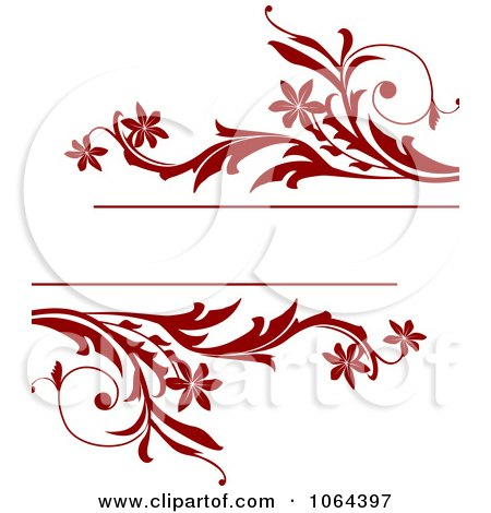 Clipart Red Vine Frame - Royalty Free Vector Illustration by Vector Tradition SM
