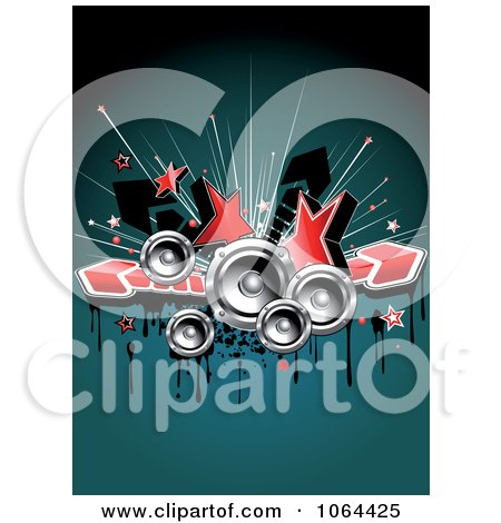 Clipart Stars, Music Speakers, Arrows And Grunge - Royalty Free Vector Illustration by Vector Tradition SM