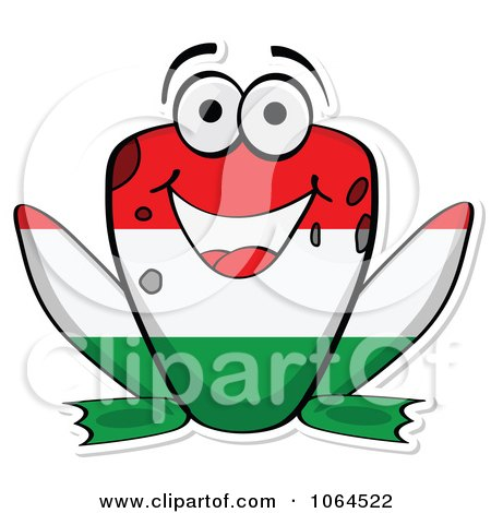 Clipart Hungarian Flag Frog - Royalty Free Vector Illustration by Andrei Marincas