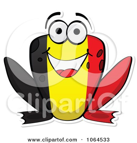 Clipart Belgium Flag Frog - Royalty Free Vector Illustration by Andrei Marincas