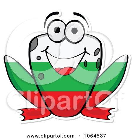 Clipart Bulgarian Flag Frog - Royalty Free Vector Illustration by Andrei Marincas