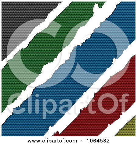 Clipart Torn Colorful Carbon Fiber - Royalty Free Vector Illustration by Andrei Marincas