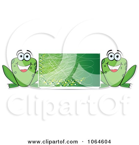 Clipart Green Frog Banner - Royalty Free Vector Illustration by Andrei Marincas
