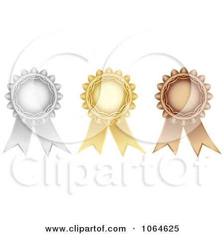 Clipart 3d Medal Rosettes - Royalty Free Vector Illustration by Andrei Marincas