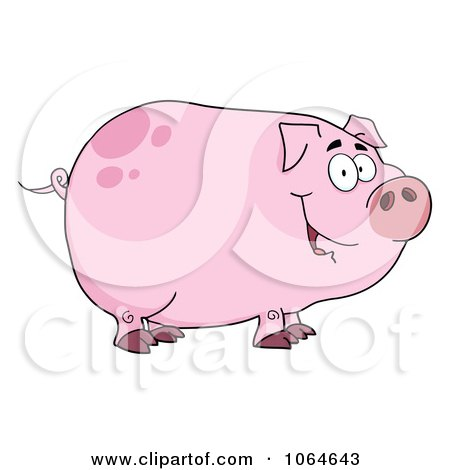 Clipart Smiling Piggy - Royalty Free Vector Illustration by Hit Toon