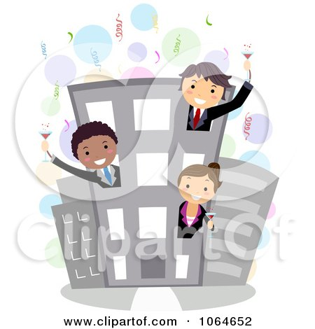 Clipart Business Party - Royalty Free Vector Illustration by BNP Design Studio