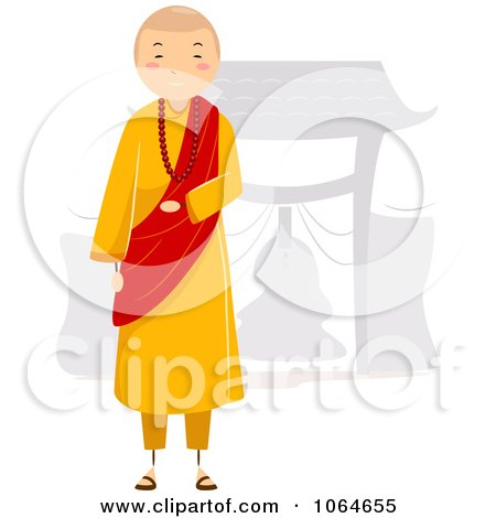Clipart Monks In Prayer - Royalty Free Vector Illustration by BNP ...