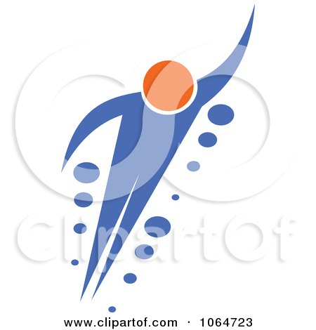 Clipart Person Flying - Royalty Free Vector Illustration by Vector Tradition SM