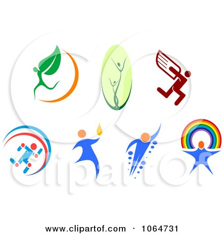 Clipart People Logos - Royalty Free Vector Illustration by Vector Tradition SM