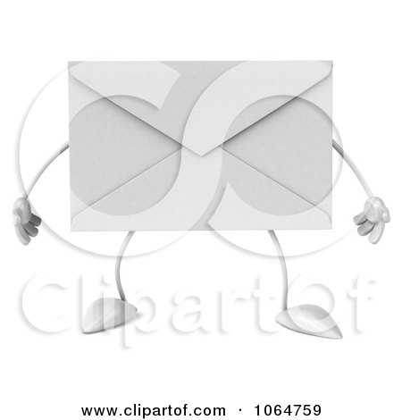 Clipart 3d Envelope - Royalty Free CGI Illustration by Julos