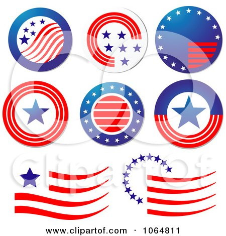Clipart Patriotic American Elements 1 - Royalty Free Vector Illustration by Vector Tradition SM