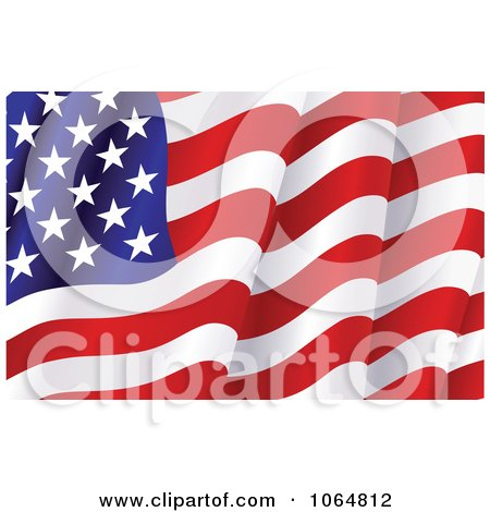 Clipart Waving American Flag - Royalty Free Vector Illustration by Vector Tradition SM