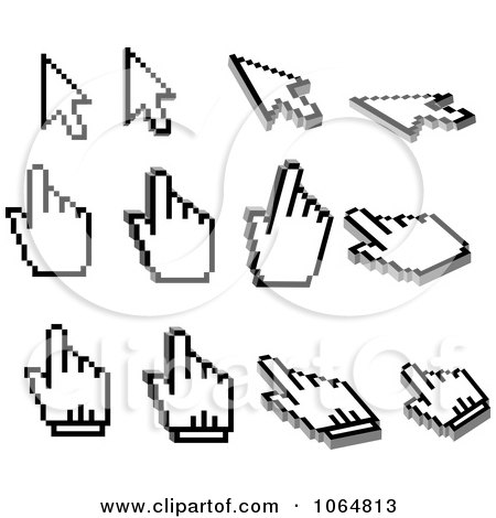 Clipart Computer Cursors 2 - Royalty Free Vector Illustration by Vector Tradition SM