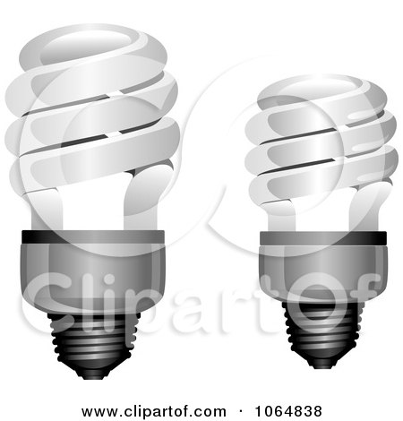 Clipart Spiral Light Bulbs - Royalty Free Vector Illustration by Vector Tradition SM