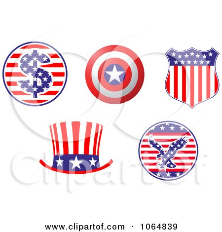 Clipart Patriotic American Elements 3 - Royalty Free Vector Illustration by Vector Tradition SM