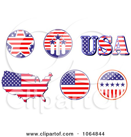 Clipart Patriotic American Elements 2 - Royalty Free Vector Illustration by Vector Tradition SM