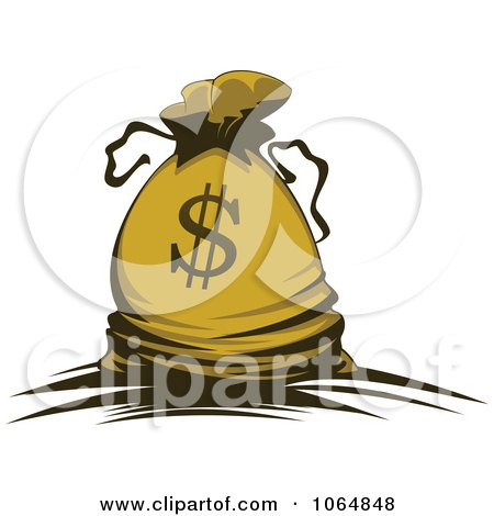 Clipart Dollar Symbol Money Bag 3 - Royalty Free Vector Illustration by Vector Tradition SM