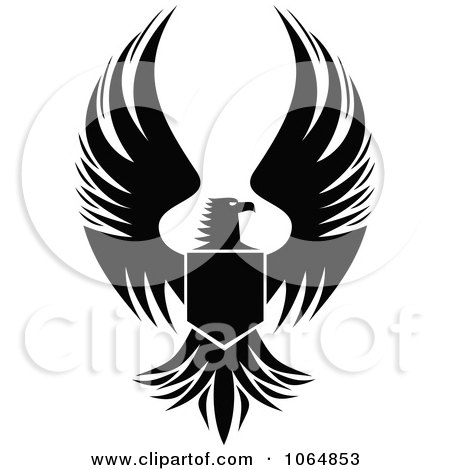 Free Royalty Free on Royalty Free  Rf  Eagle Shield Clipart  Illustrations  Vector Graphics