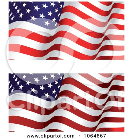 Clipart Waving American Flags - Royalty Free Vector Illustration by Vector Tradition SM