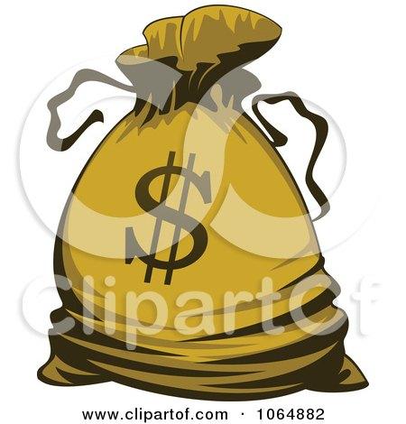 Clipart Dollar Symbol Money Bag 2 - Royalty Free Vector Illustration by Vector Tradition SM