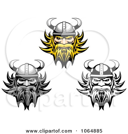 Clipart Tough Vikings - Royalty Free Vector Illustration by Vector Tradition SM