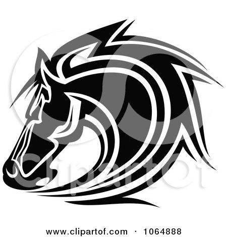 Horse Face Logo Horse Head Logo in Black And