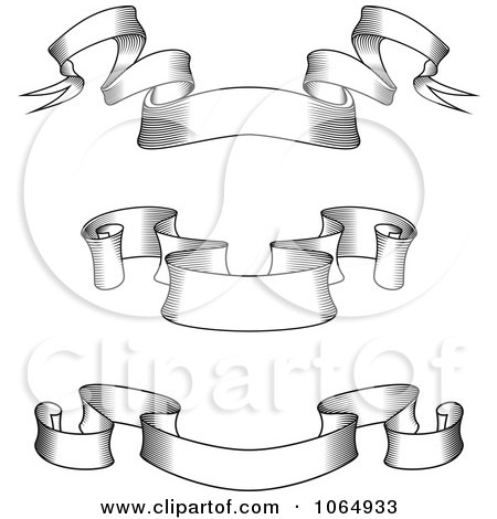 Clipart Sketched Ribbon Banners - Royalty Free Vector Illustration by ...