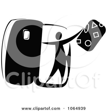 Clipart Tourist Getting Off A Plane 1 - Royalty Free Vector Illustration by Vector Tradition SM
