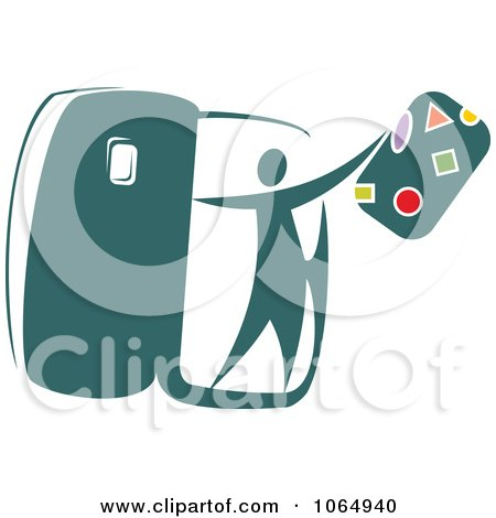 Clipart Tourist Getting Off A Plane 3 - Royalty Free Vector Illustration by Vector Tradition SM