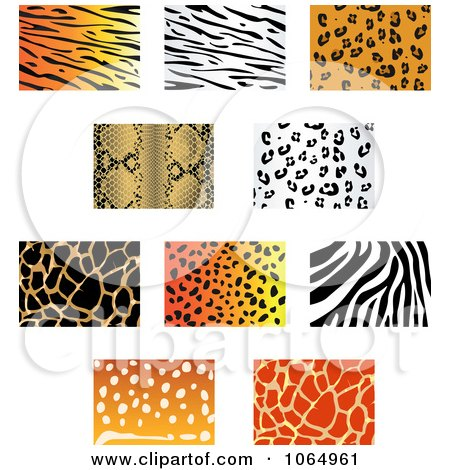 Clipart Jungle Animal Prints 3 - Royalty Free Vector Illustration by Vector Tradition SM