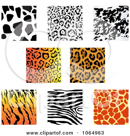 Clipart Jungle Animal Prints 2 - Royalty Free Vector Illustration by Vector Tradition SM
