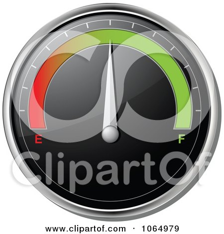 3d Car Gas Gauge In The Middle Posters, Art Prints