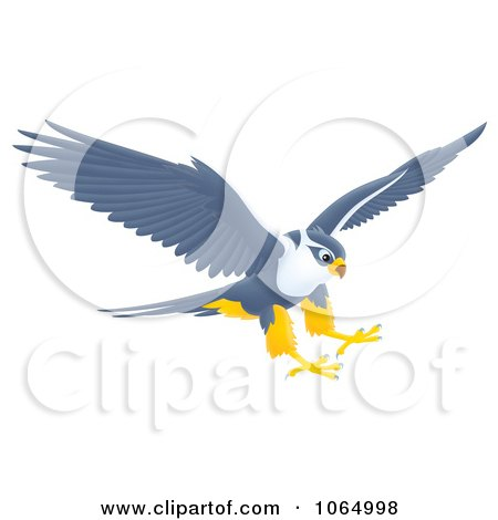 Clipart Falcon Reaching For Prey - Royalty Free Illustration by Alex Bannykh