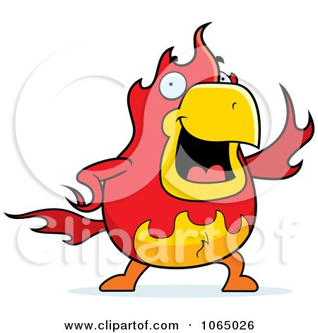 Clipart Chubby Phoenix Waving - Royalty Free Vector Illustration by Cory Thoman