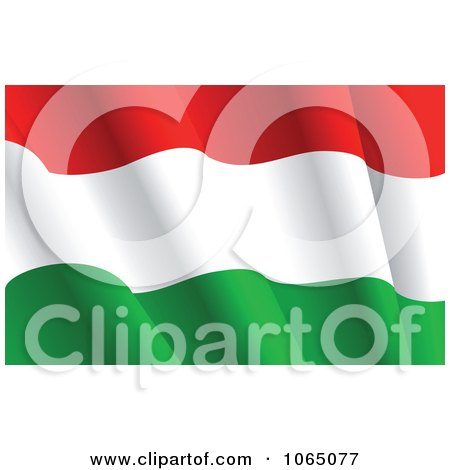 Clipart Waving Hungary Flag - Royalty Free Vector Illustration by Vector Tradition SM
