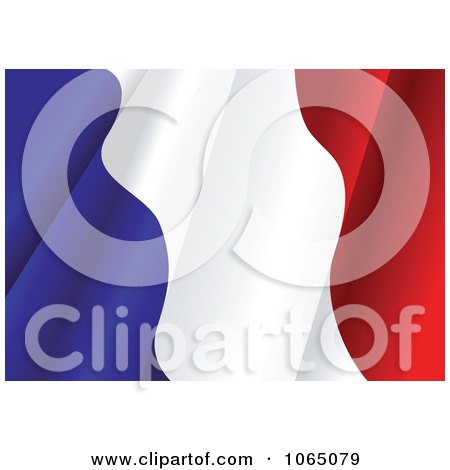 Clipart Waving France Flag - Royalty Free Vector Illustration by Vector Tradition SM