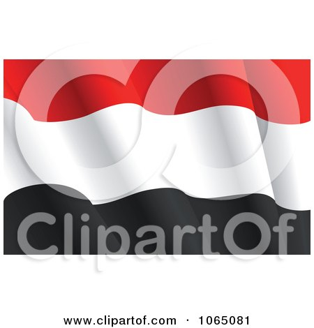 Clipart Waving Syria Flag - Royalty Free Vector Illustration by Vector Tradition SM