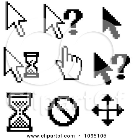 Clipart Computer Cursors 1 - Royalty Free Vector Illustration by Vector Tradition SM